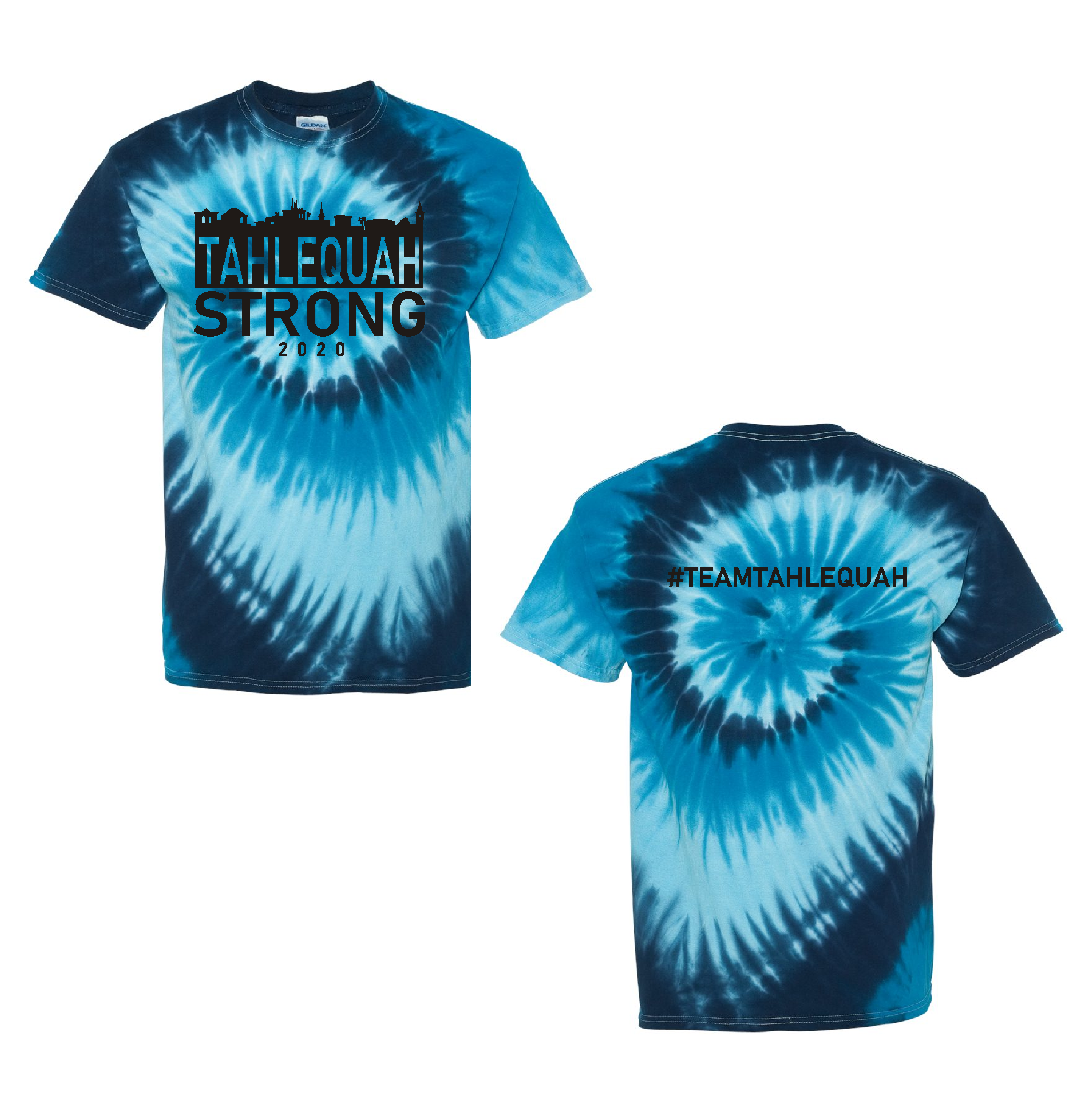 "Tahlequah Strong TIE DYE ""Blue Tide""- IN STORE"