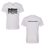 Tahlequah Strong WHITE V-NECK PREORDER