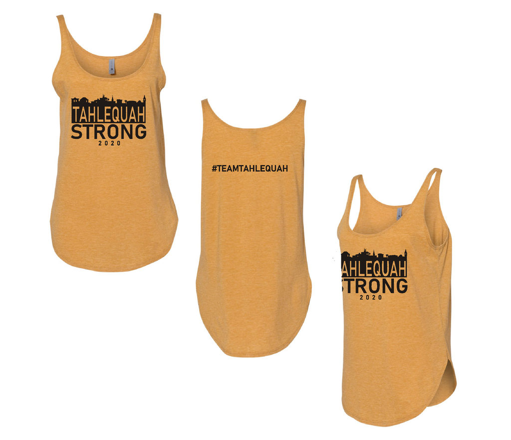 Tahlequah Strong Tank Tops ANTIQUE GOLD-In Stock