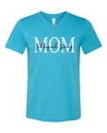 Tahlequah Strong MOM AQUA V-Neck
