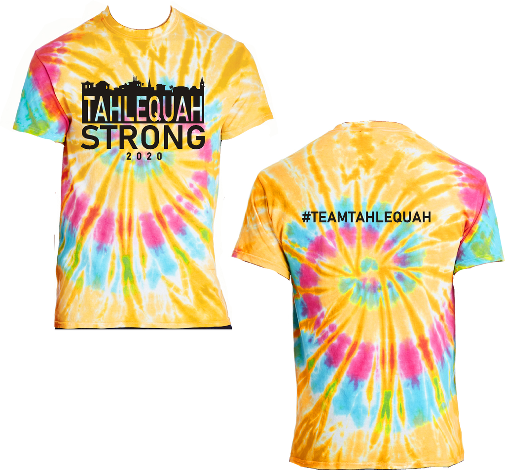 "Tahlequah Strong TIE DYE ""Aurora"" IN STOCK"