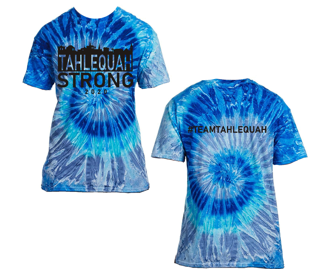 "Tahlequah Strong TIE DYE ""Blue Jerry""- IN STOCK"