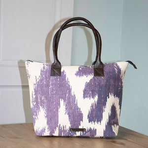 Le Papillon - Cotton Rug Handbag Genuine Leather