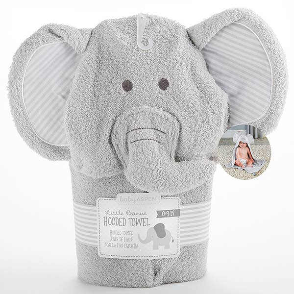 Baby Aspen - Little Peanut Elephant Hooded Spa Towel