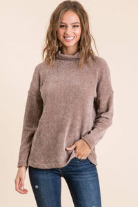 Soft and Charming Mock Neck Sweater