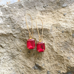 Buffalo Girls Salvage - Ruby Red Swarovski Crystal Necklace, Earrings or Ring