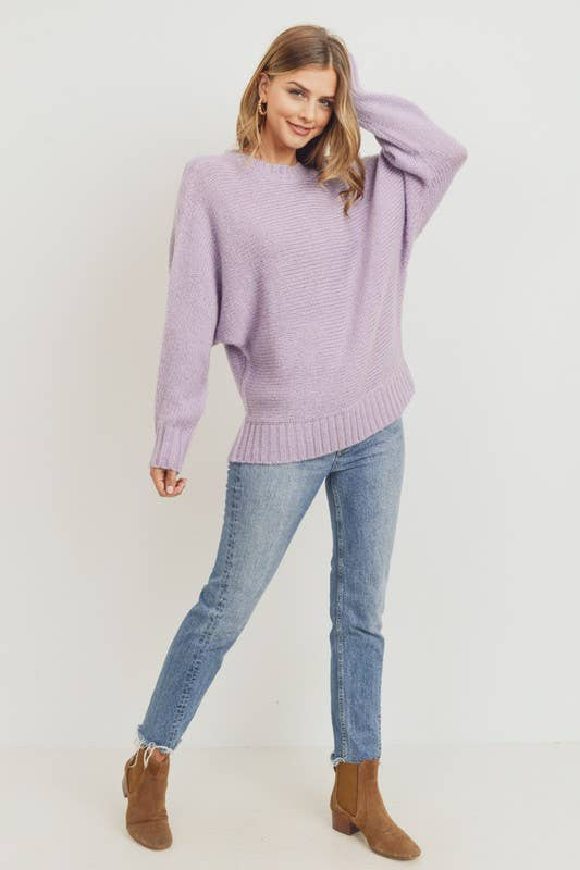 Mossy Fog Grey Blue Pullover Sweater