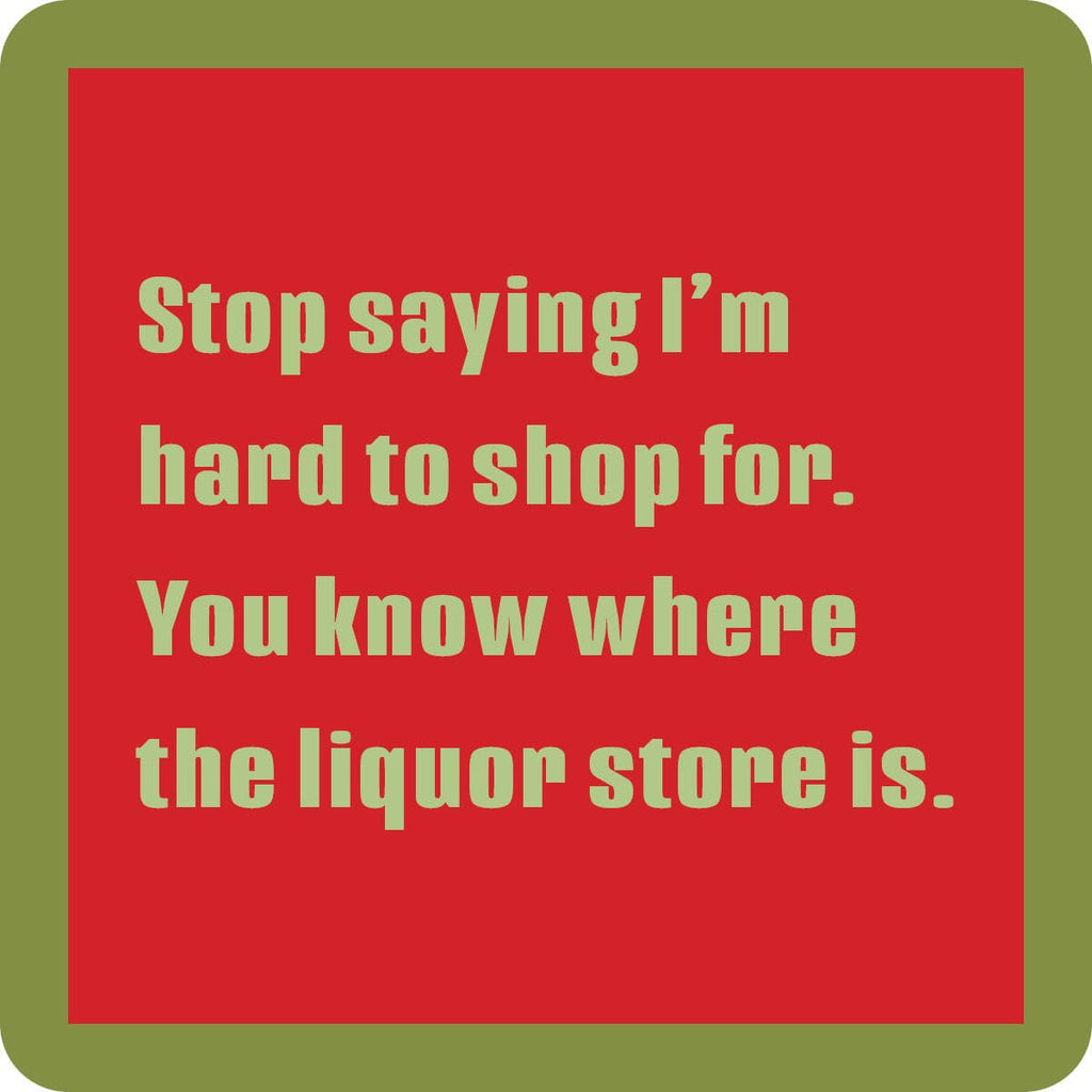 Drinks on Me coasters - Hard to Shop