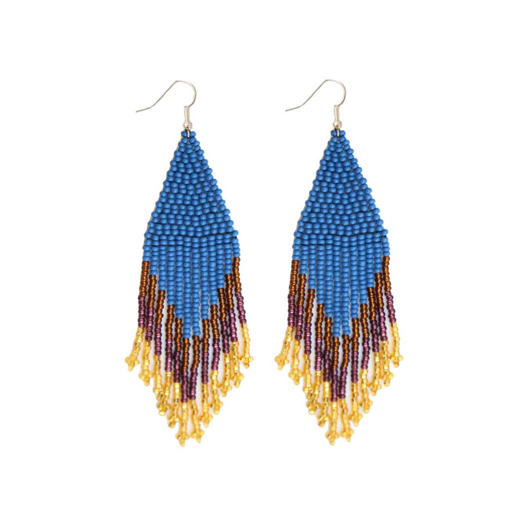 FOSTERIE - Peacock Beaded Earrings