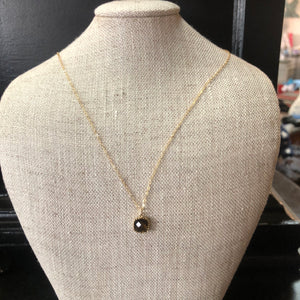 Laalee Jewelry - Brown Gemstone Glass Necklaces, Dainty Minimalist Necklace