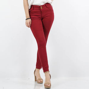 Burgundy Super Stretch Twill Pants