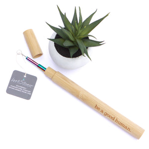 Last Straw - Rainbow Straw Set Bamboo Case - 4 Pieces