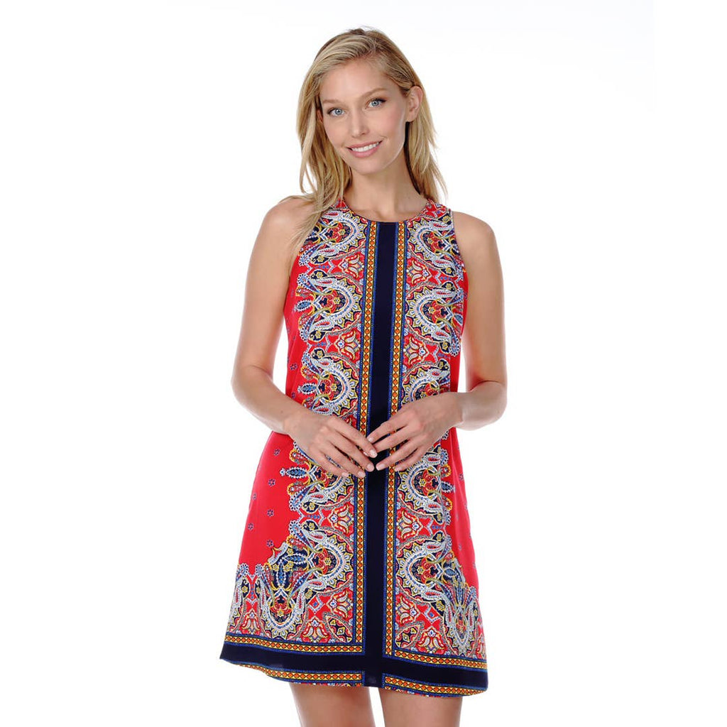 Renee C. - Boho Sleeveless Print Dress