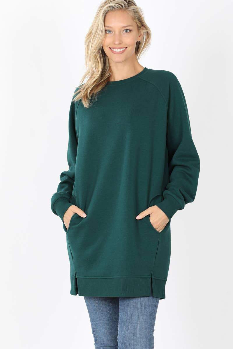 42pops - Oversize two-pocket side-slit sweatshirt