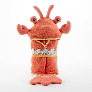 Baby Aspen - Lobster Laughs Lobster Hooded Towel