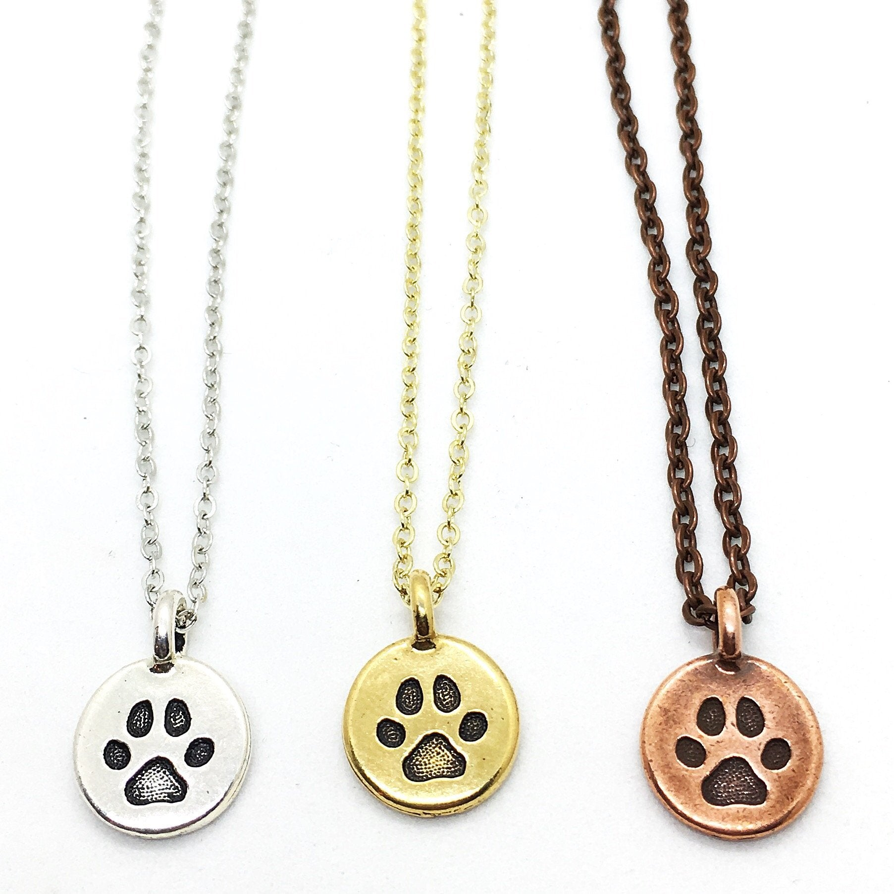 Buffalo Girls Salvage - Gold and Silver Paw Print Necklace