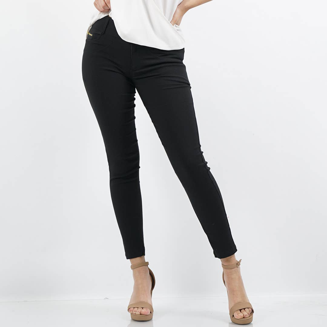 42pops - Front zipper super stretch twill pants