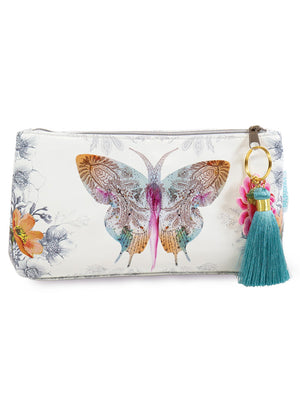 PAPAYA! - Small Pouch - Paisley Butterfly