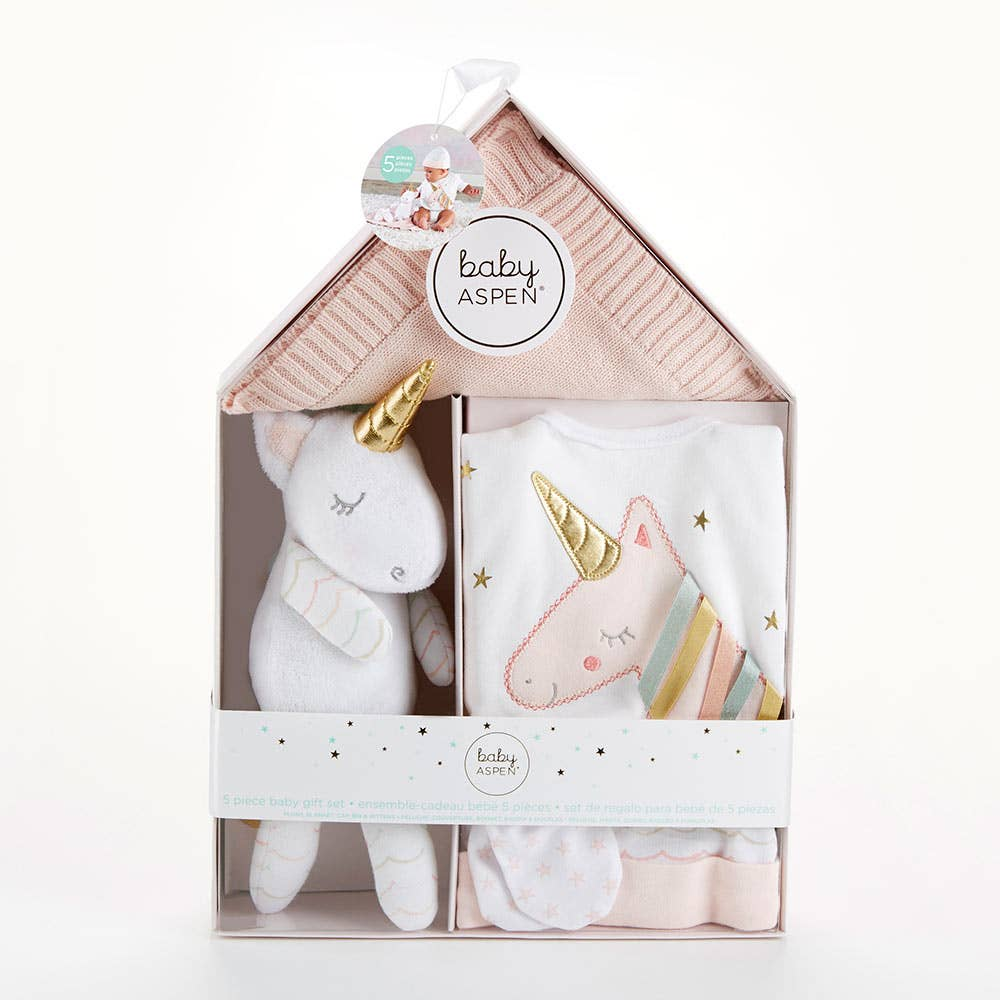 Baby Aspen - Simply Enchanted Unicorn Welcome Home Gift Set