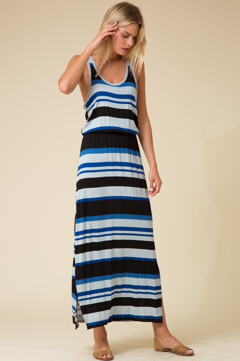 Striped Tank Maxi Dress