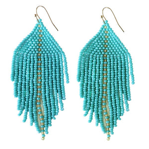 FOSTERIE - Raya Beaded Earrings Turquoise