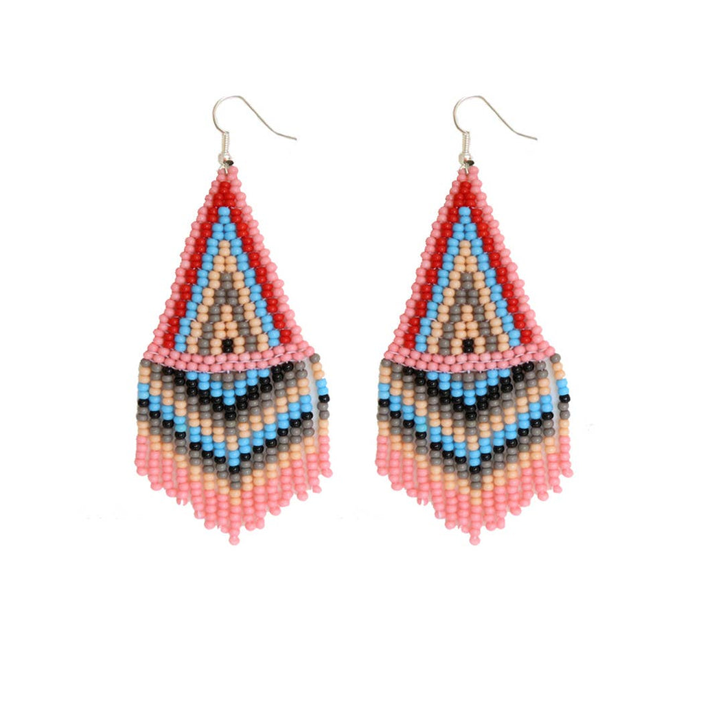 FOSTERIE - Bubble Gum Beaded Earrings