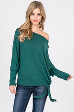 Julia Emerald Green Top with Side Tie