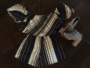Sasha Striped Romper