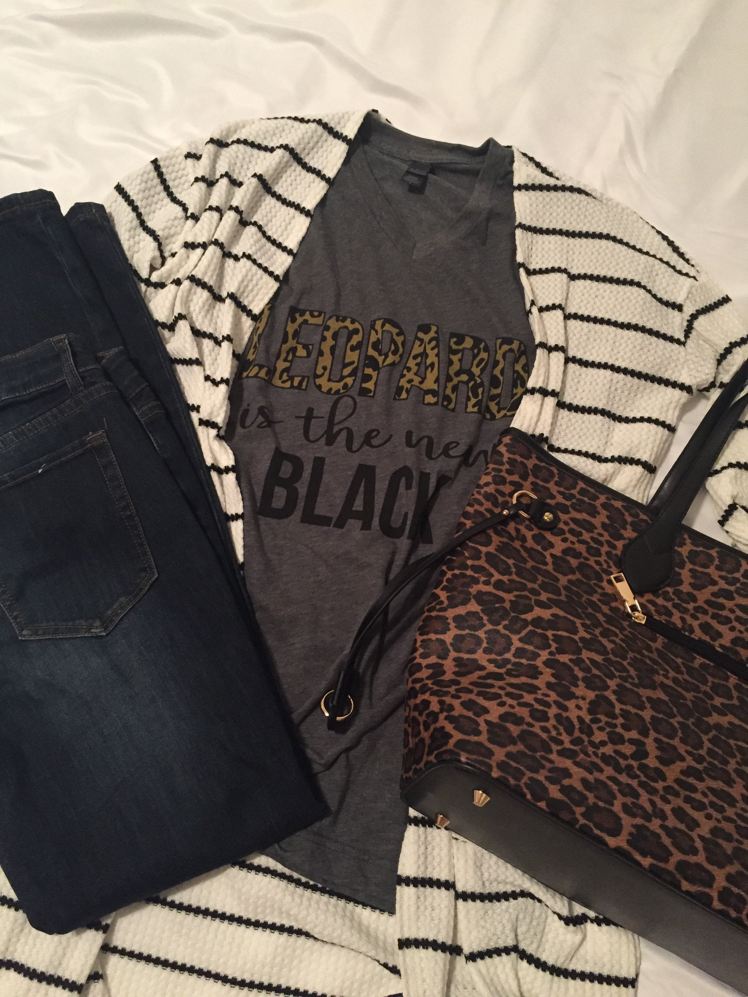 Leopard is the New Black Tee
