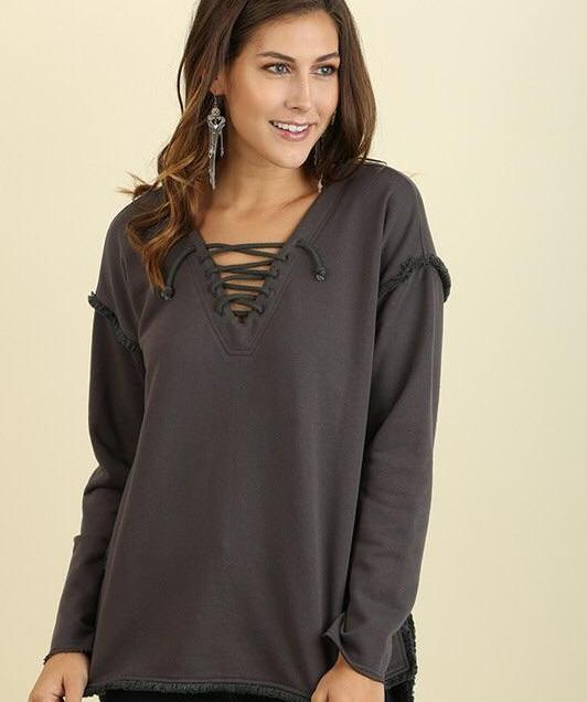 Addie Charcoal Sweatshirt