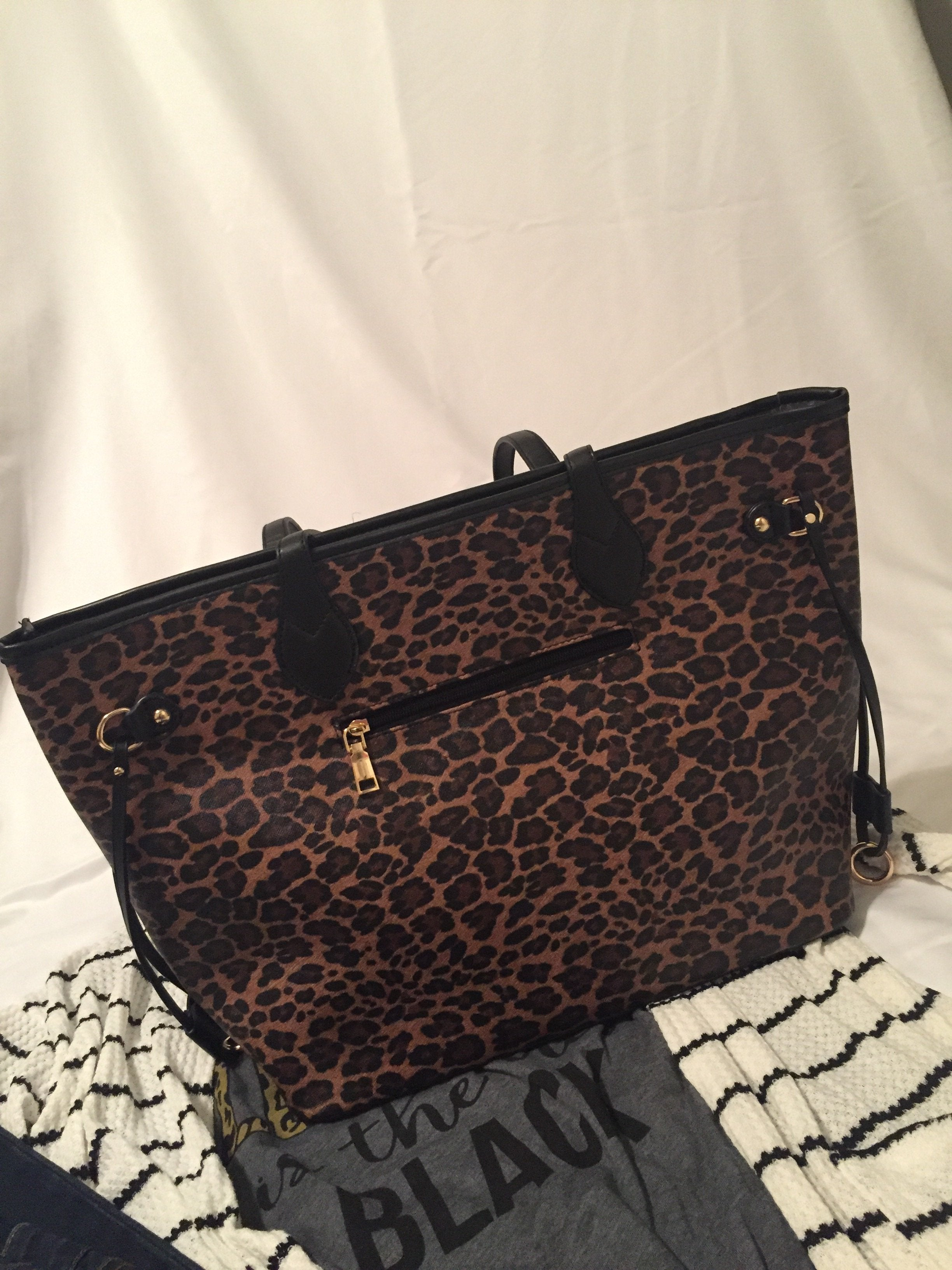 Leopard Catch All Bag