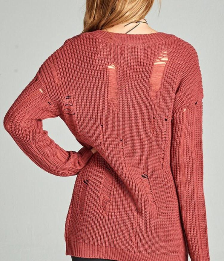 Lightweight Distressed Sweater