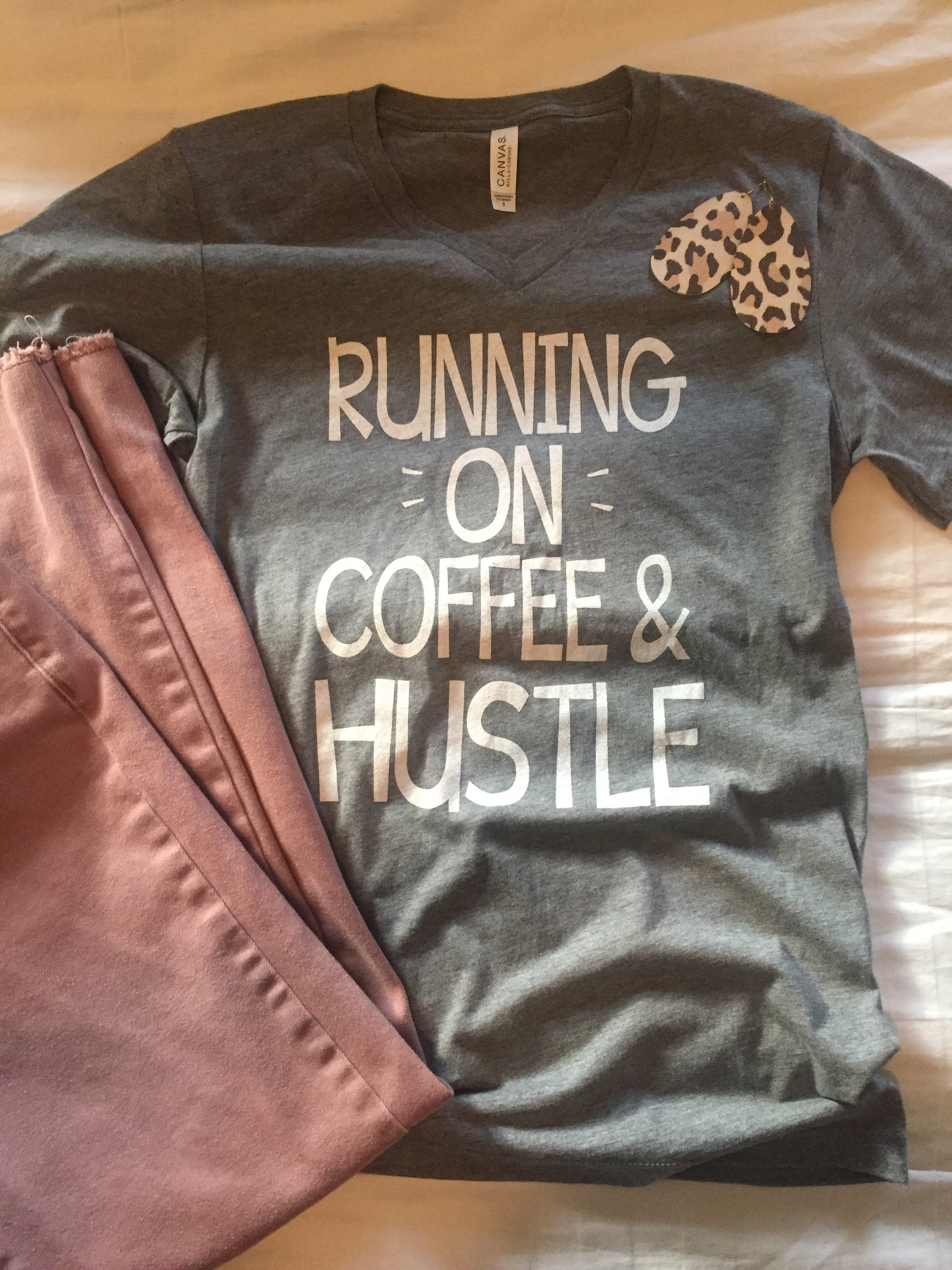 Running on Coffee & Hustle Tee