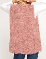 Rose Faux Fur Vest