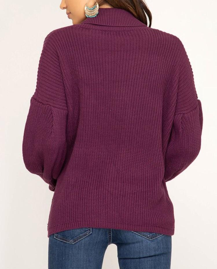 Patsy Plum Sweater