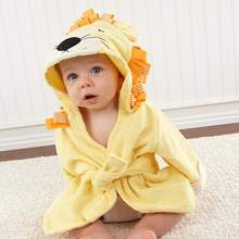 "Big Top Bath Time"""" Lion Hooded Spa Robe - Baby Aspen"