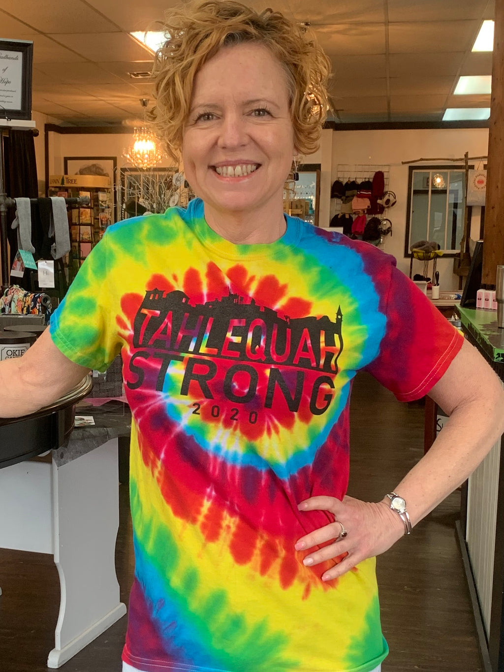 "Tahlequah Strong TIE DYE ""Rainbow""- IN STORE"