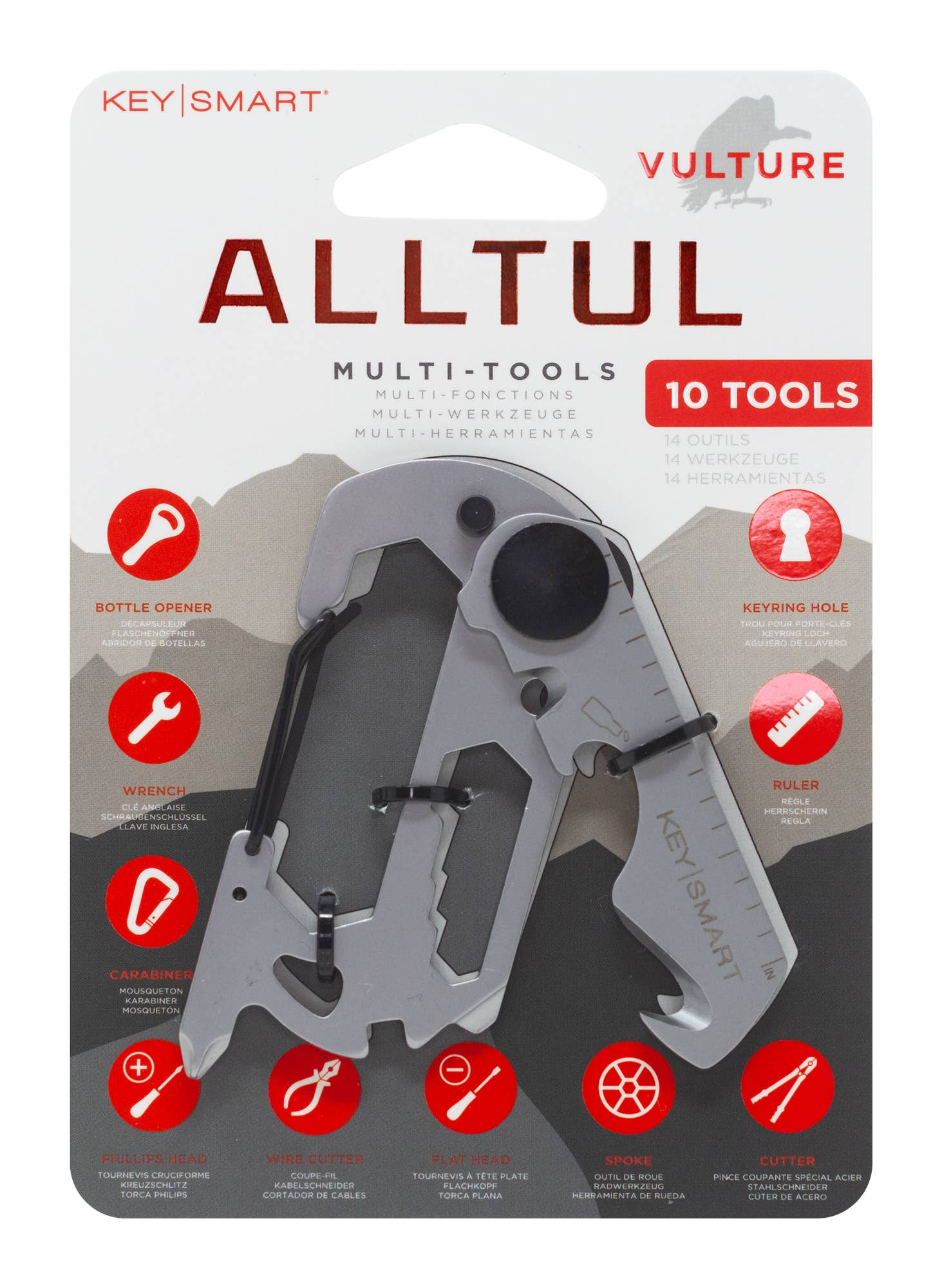 KeySmart - AllTul™ KeyChain Animal Multi-Tool | Vulture