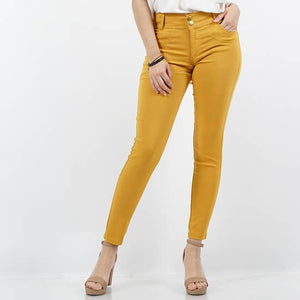 Mustard Super Stretch Twill Pants