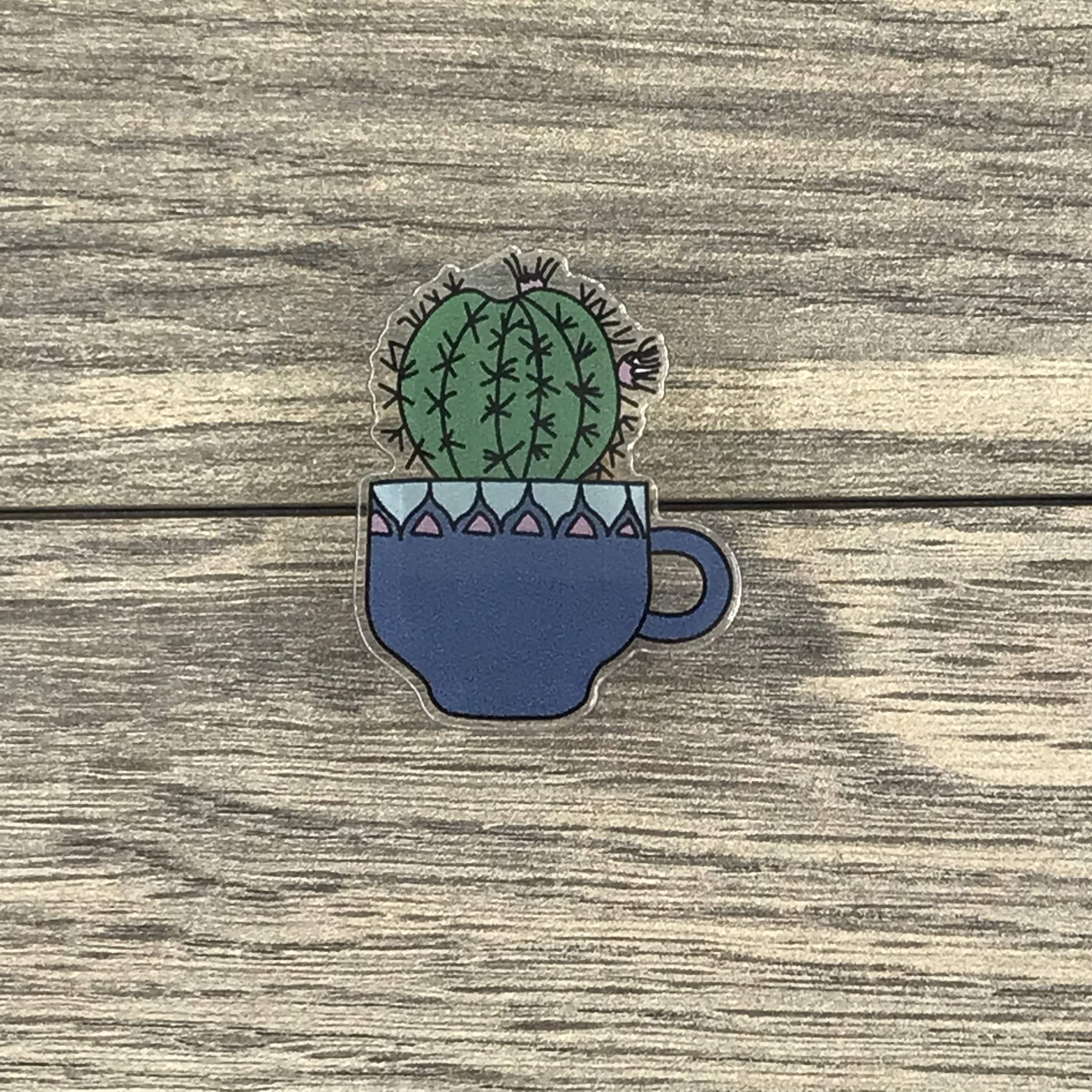 The Plant Farm Fun Stuff Cactus in Teapot Pin
