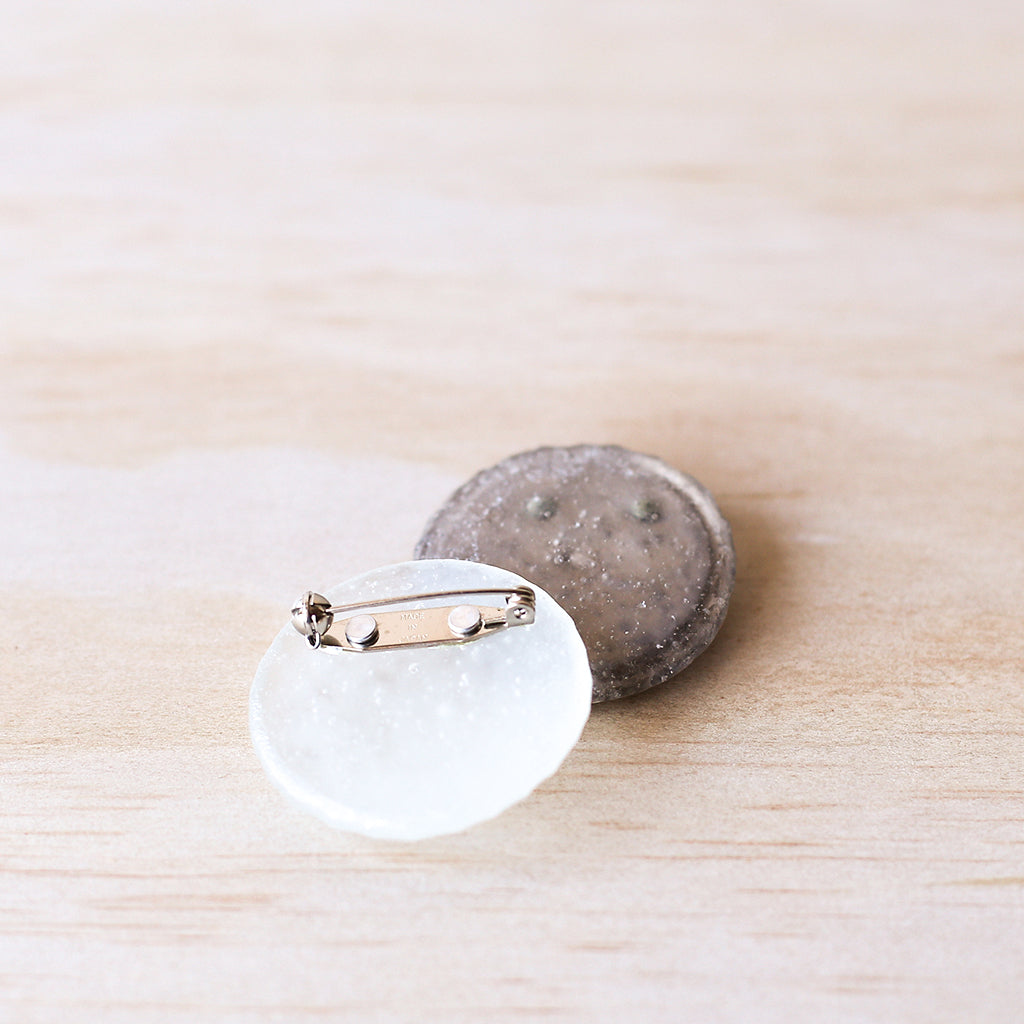 Coin Brooch - White