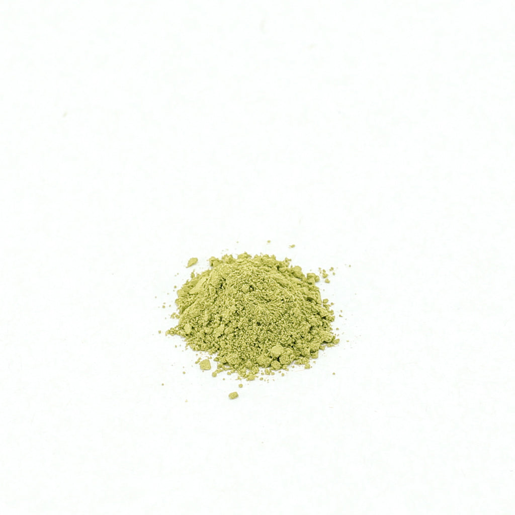 Close up of Japanese certified Organic Benifuuki (Powdered Green Tea) from Shizuoka, Japan
