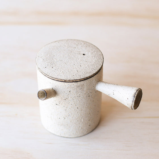 Japanese Tea Pot L - White