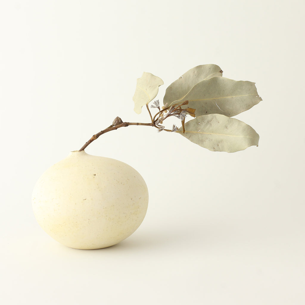 White Pebble Vase