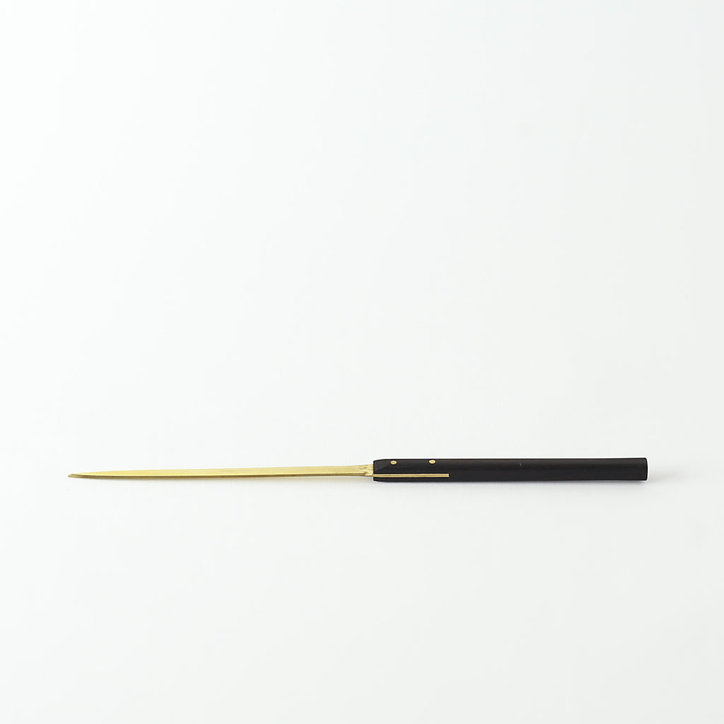 Brass Letter Opener - Black Wood Handle