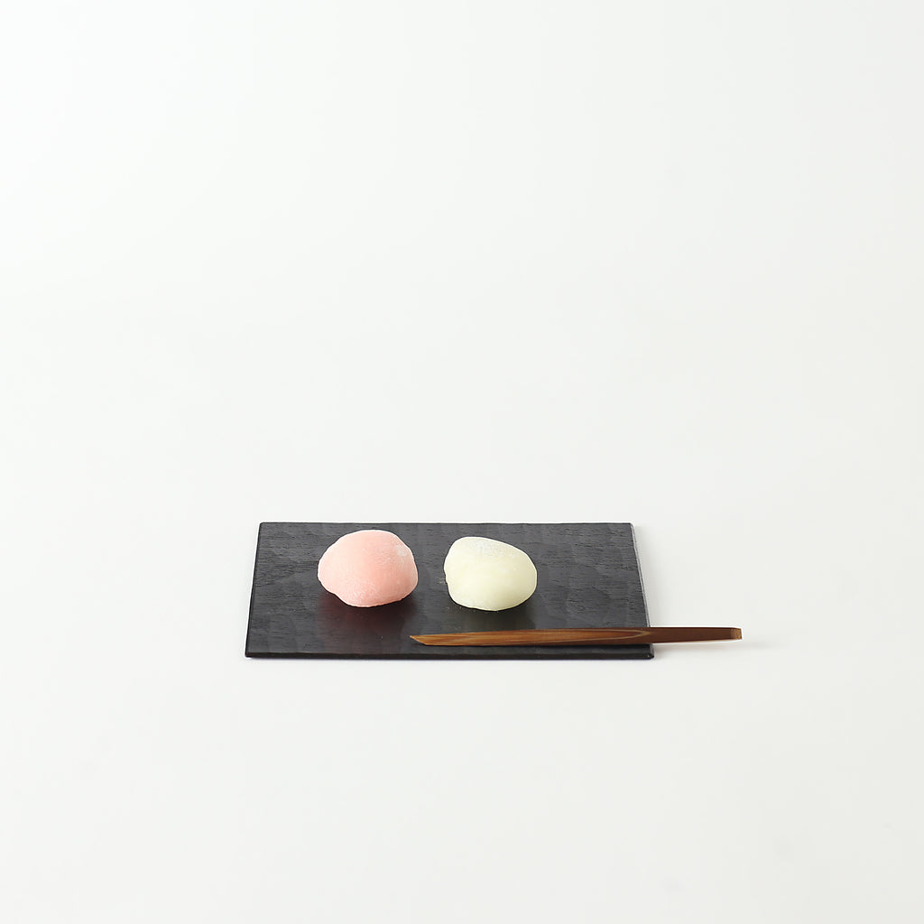 Urushi Japanese Walnut Wood Sweets Plate