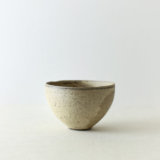 Handcrafted, Handmade, Artisan, Japanese, Ceramic, Pottery, Chawan bowl, White, Homeware, Kitchenware, Tableware, Monochromatic, Beautiful Quality, Unique, Art, Minimal, Made in Japan.