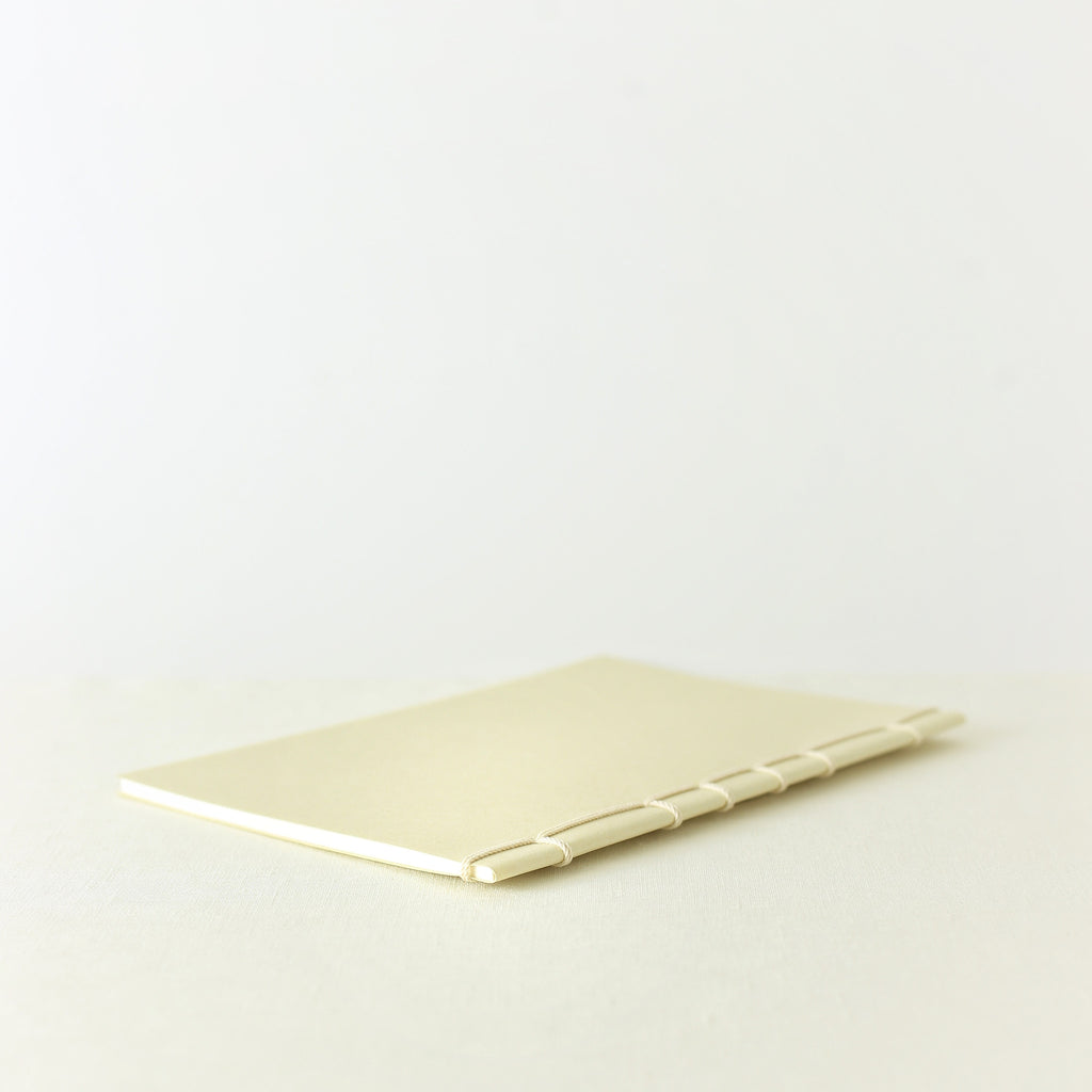 Japanese notebook, Handmade, Handcrafted, Paper, Bamboo pulp paper, Washi, Blank pages, Ivory colour, Beautiful Quality, Gifts, Made in Japan.