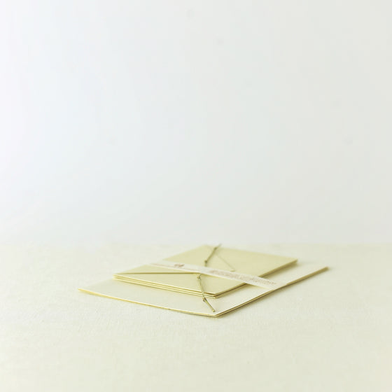 Handcrafted, Handmade, Japanese, Letter set, Paper, Bamboo pulp paper, Mulberry finer paper, Ivory colour, Beautiful Quality, Unique, Made in Japan.