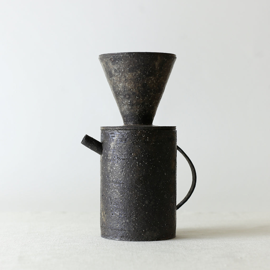 Handcrafted, Handmade, Artisan, Japanese, Ceramic, Pottery, Coffee Pot, Dripper, Homeware, Kitchenware, Tableware, Beautiful Quality, Unique, Art, Minimal, Made in Japan.
